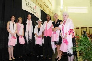 2010 Susan G. Komen South Florida Race for the Cure® Warriors in Pink. From left to right: Stephanie Siegel, Shari Zipp, F. Bud Gardner, Susan Kristoff, Marie Seide, Liz Yavinsky, Margaret Oathout. Photo by South Moon Photography.