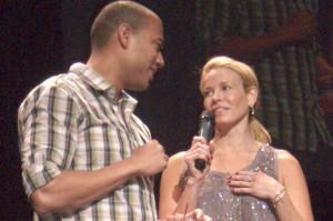 Chelsea Handler and guest comedian Michael Yo