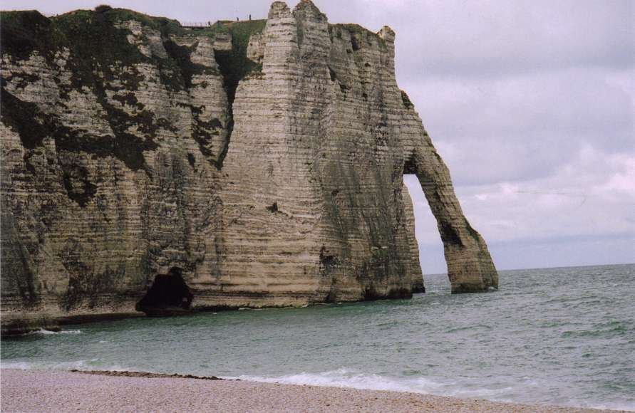 Michael Hall's photo of Etratat, a spot that attracted many impressionist painters in France