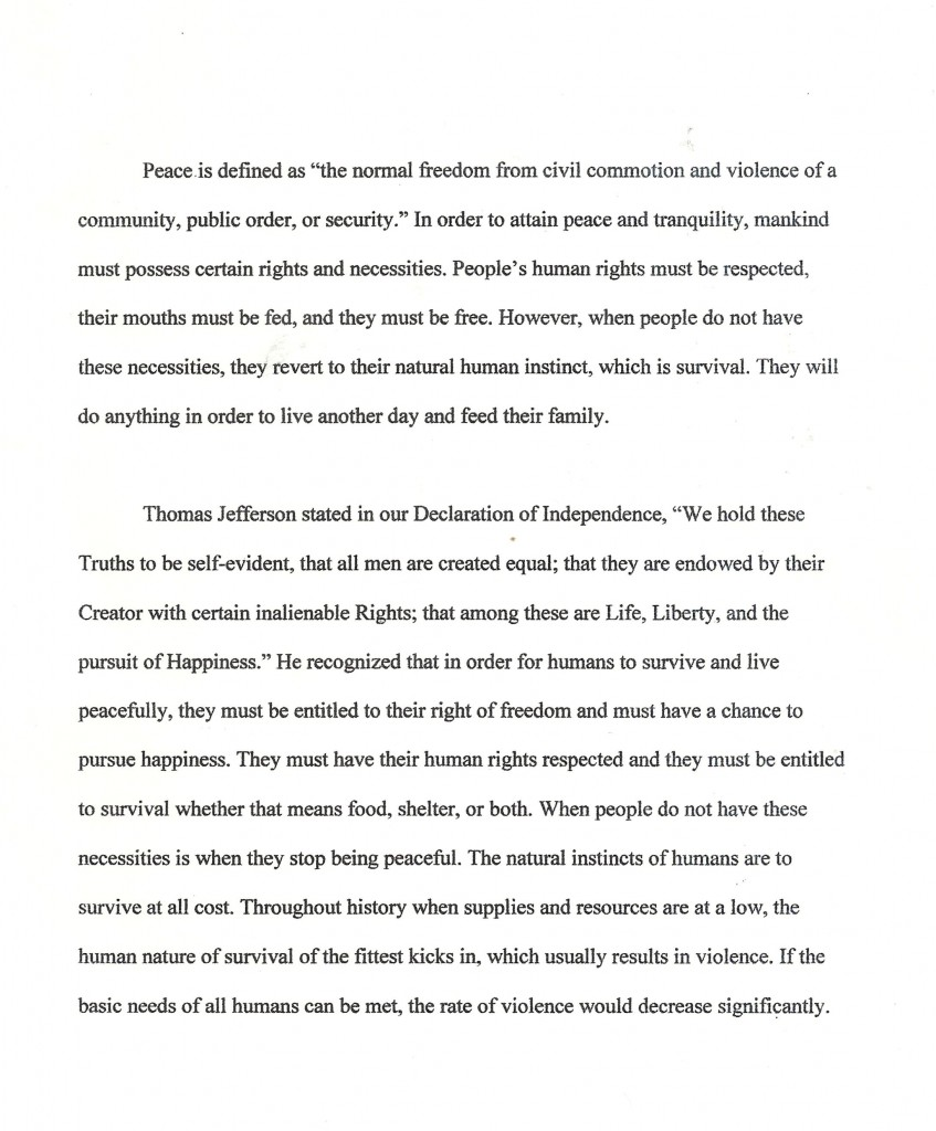 national peace essay 2011 How to write an essay on the topic 'world peace studymode world peace essay 20, october, 2011 united states institute of peace winning essays 2013 national.