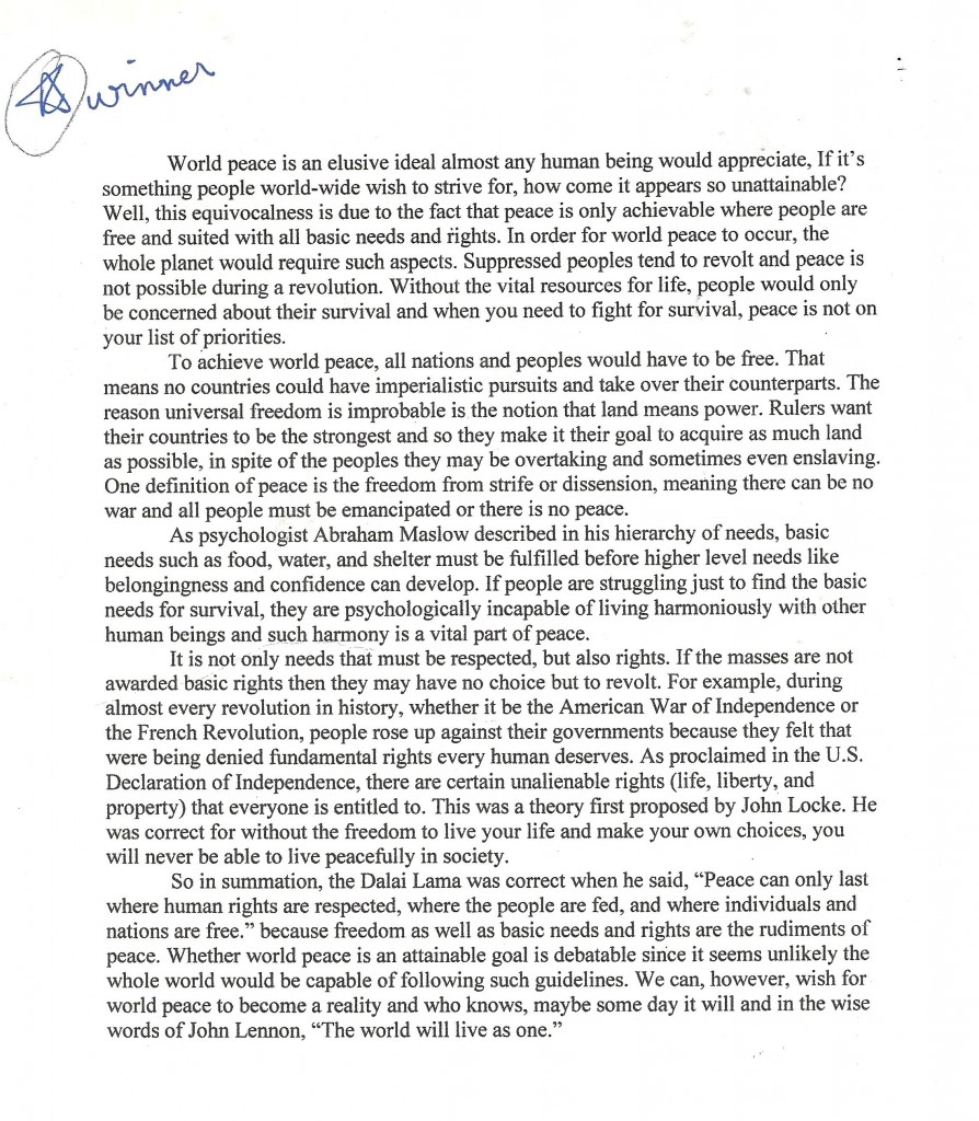 essay on peace co essay on peace