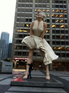 Marilyn Monroe on display in Chicago. Photo by Terri Marshall.