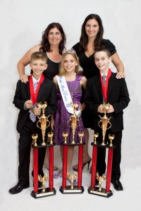That's Dancing owners Michele Walsh and Andrea La Maina with this year's young dancers who are headed for nationals.