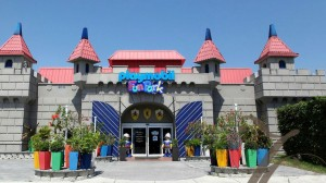 Entrance of the Playmobil FunPark castle in Palm Beach Gardens