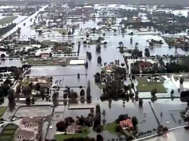 WPTV's Chopper 5 captured some of the first aerial images of Wellington, flooded by Tropical Storm Isaac.