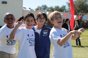 (Left to Right) 5th graders Dimitri Laurent , Alexander Acacio,, Matthew Grossberg and Nicolas Strada.