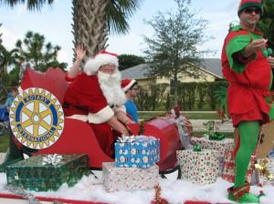 Santa - at the end of the Wellington Holiday Parade.