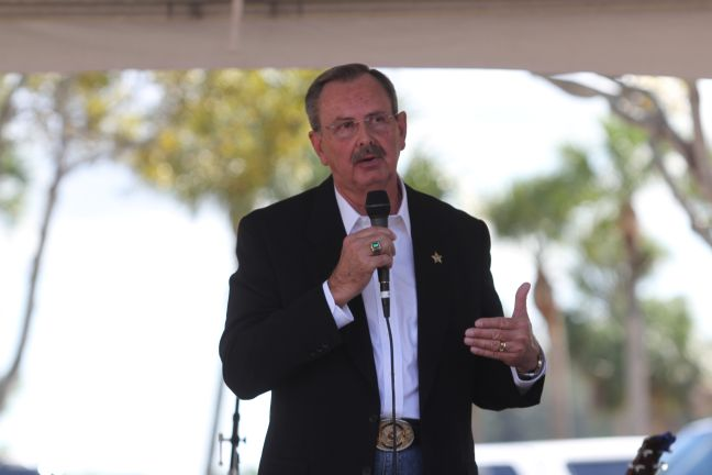 Swearing in ceremony this month for re-elected Sheriff Ric Bradshaw. Photo: Carol Porter.