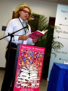 Thane Rosenbaum reads excerpts. Photo: Marla E. Schwartz.