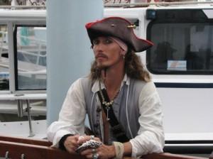 Captain Joker, the pirate who runs the ship