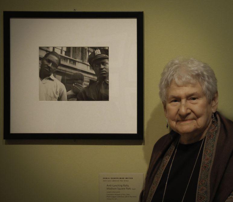 Sonia Handelman Meyer, Anti-Lynching Rally Madison Square Park, 1946. Photo: Eric Baumel.