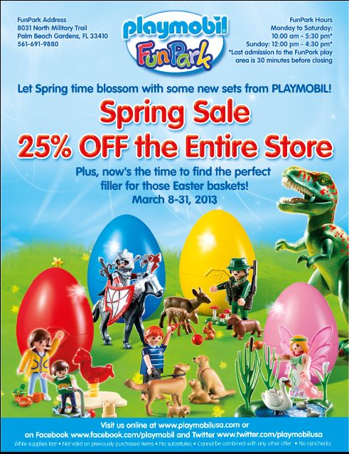 March 2013 Spring Sale At Playmobil Funpark