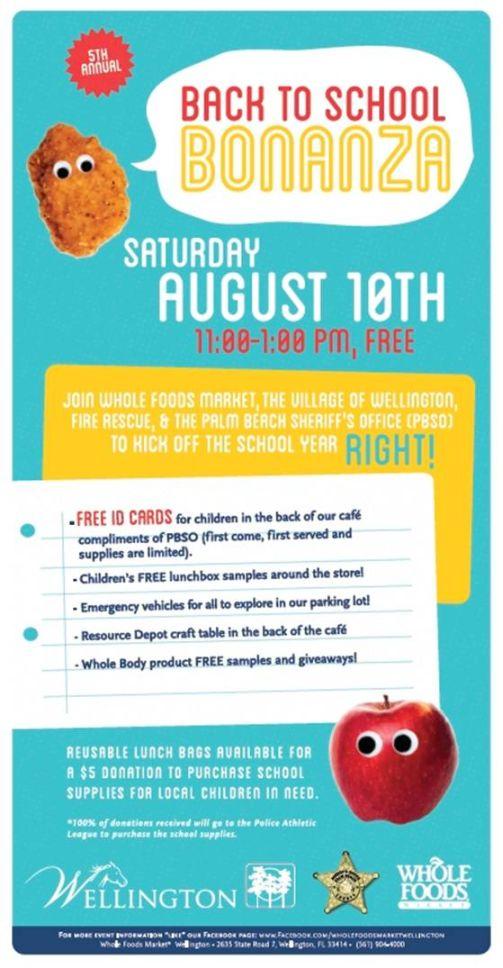 August, 2013 - Whole Foods Back to School Bonanza - AroundWellington