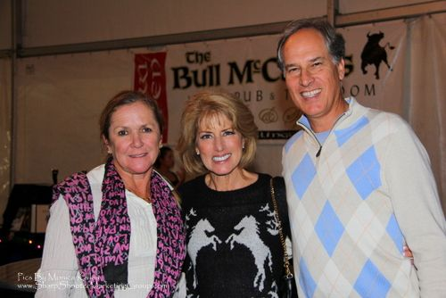 WinterFest at the VIP Tent with WPTV's Roxanne Stein (middle). Photo by Monica Kallas.