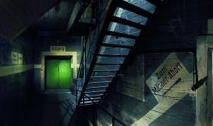 Green Door Entering Berlin's Underground Bunkers - WWII Air Raid Shelters - Images © Berliner Unterwelten e.V.