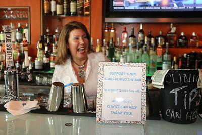 "Silvia Garcia at ""Stars Behind the Bar,"" a fundraiser held last month at Jordan's Steak Bistro. Photo by Carol Porter."