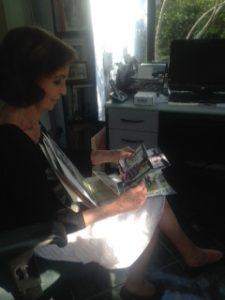 Corinne in her studio