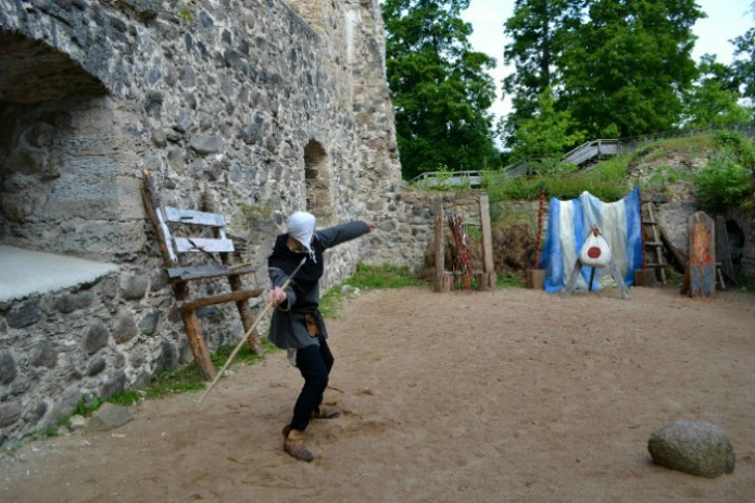 Mastering archery in Sigulda