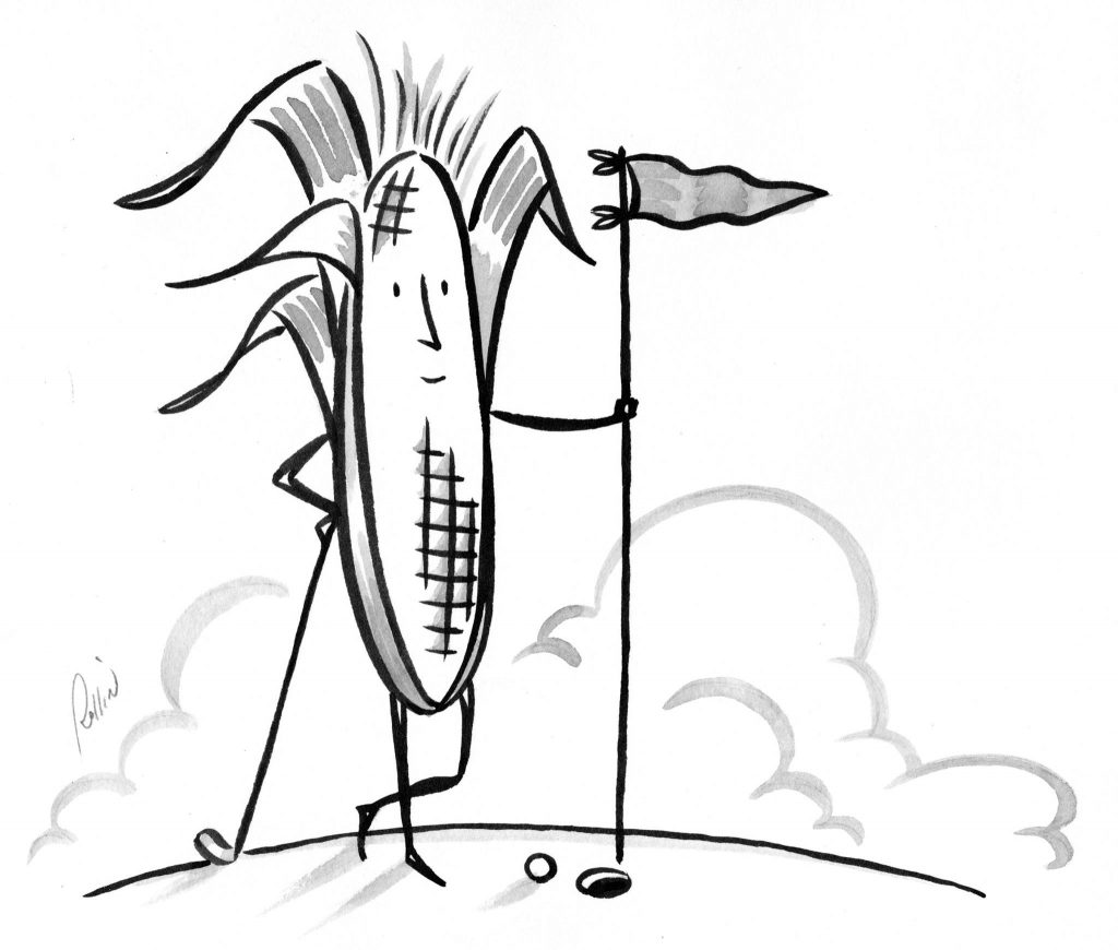"""Genetically Modified Corn."" By Rollin McGrail."