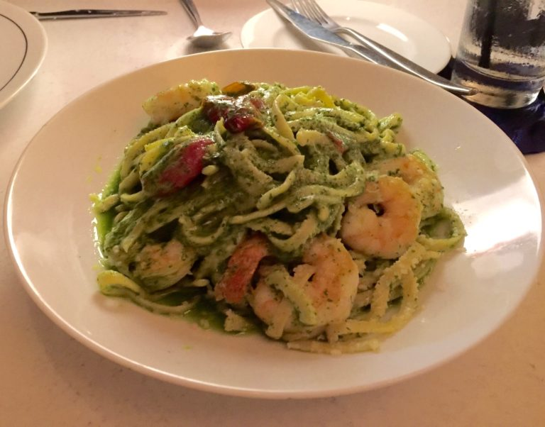 Shrimp and Pasta with Arugula Pesto