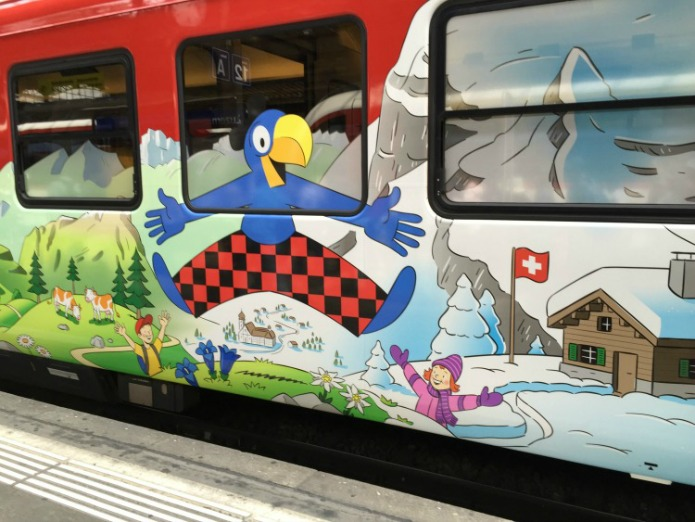 Family Cars on the Switzerland Rails