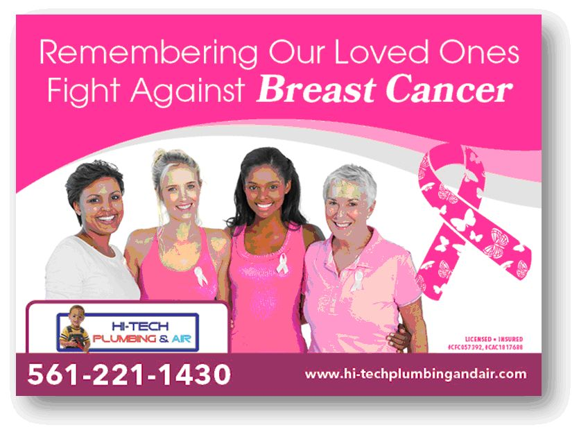 Hi Tech Plumbing Amp Air Is Fighting Breast Cancer By