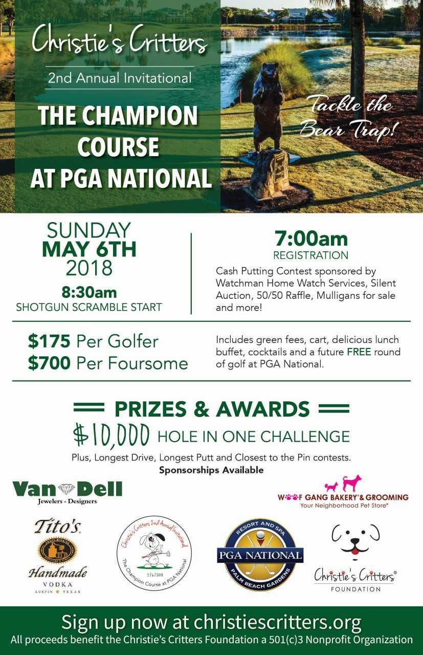 Christie S Critters Golf Tournament Aroundwellington Com