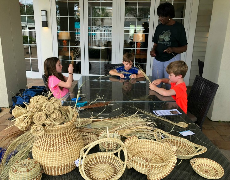 Gullah Sweetgrass Basket weaving a cultural experiences for kids on AroundWellington